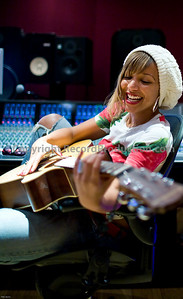 Singer Tanya Lacey at Modern World Studios UK