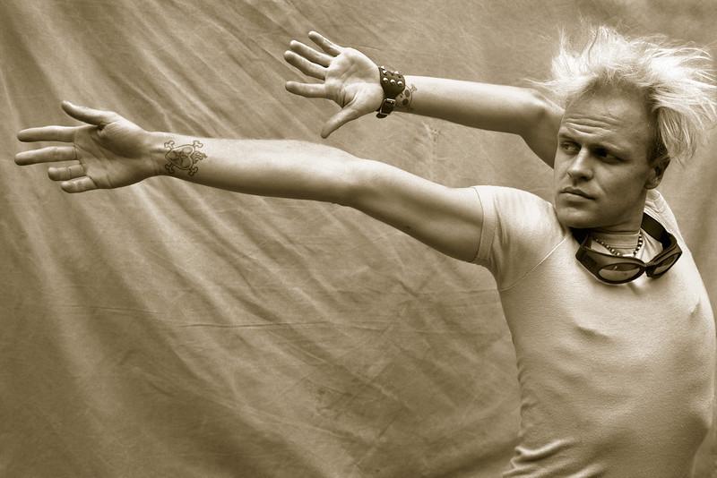 Captain Frodo, the incredible rubber man, street & sideshow performer.