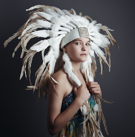 Portrait of Kinga Nowicka  Headdress:  WATCH.THIS.SPACE Boutique