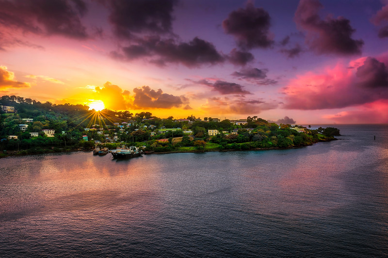 Saint Lucia Sundown