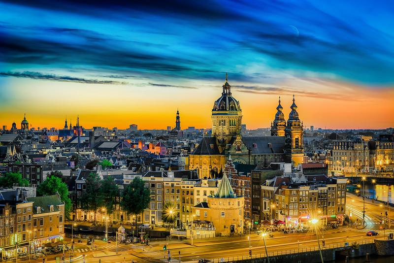 Night Light in Amsterdam