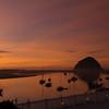 Morro Rock at Sunset