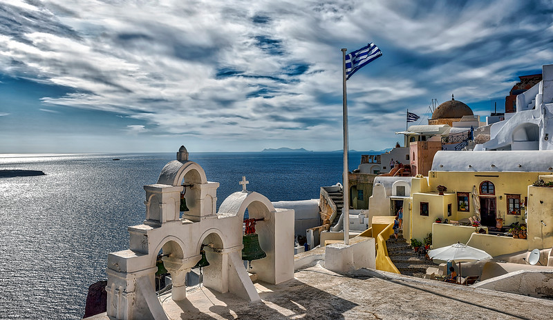 The Green Bells of Oia