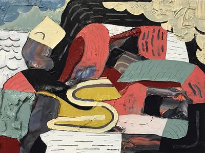 """""""Tsunami Dreams"""" - Oil on panel - 9 x 12 in - 2016"""