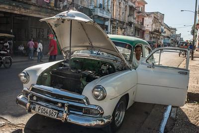 Man and Car, Havana, Cuba