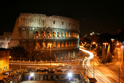 Night lights at the Colosseum