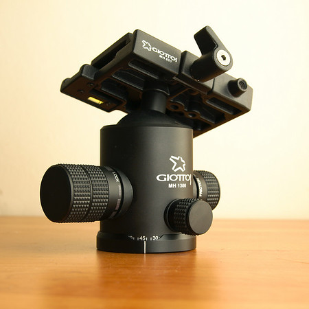 Giottos MH1300+MH621 tripod head and quick release plate