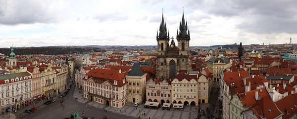 Old town square panorama