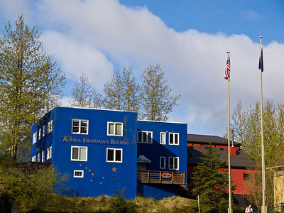 The Alaska Fishermen's Building stands just on the other side of Main street from the capitol. May 3rd, 2010.