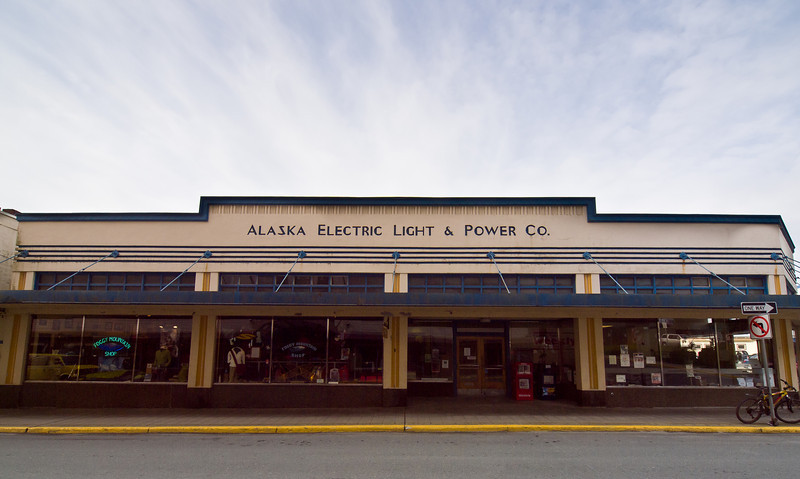 This is now an expensive outdoor equipment store, but AELP still sends out the power bills from another office. May 4th, 2010.