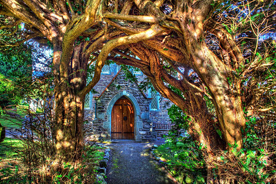 The Yew Tree Arch over the entrance to Thornthwaite Church