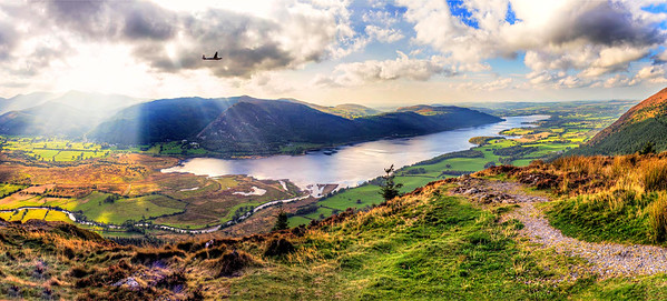 Gliding over Bassenthwaite Lake