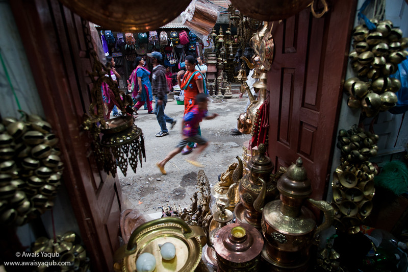 street to Durbar square and antique shop
