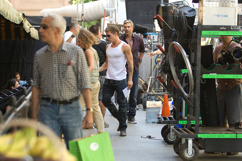 Ryan Philippe during the set of The Lincoln Lawyer with cast in downton Los Angeles.