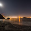 Moonrise over Kirby Cove. Photo by Alison Taggart-Barone, Parks Conservancy