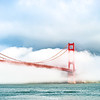Midday fog over the Golden Gate Bridge.  Photo by Alison Taggart-Barone, Parks Conservancy