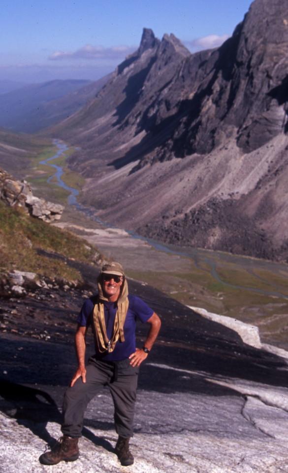 Climbing Ariel Peak. Arrigetch Creek below, is a tributary of the Alatna River
