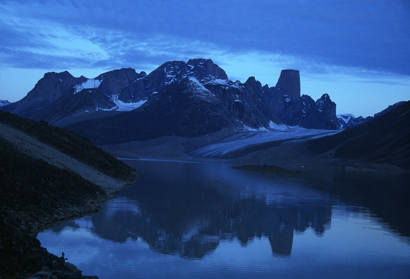Baffin Island at midnight