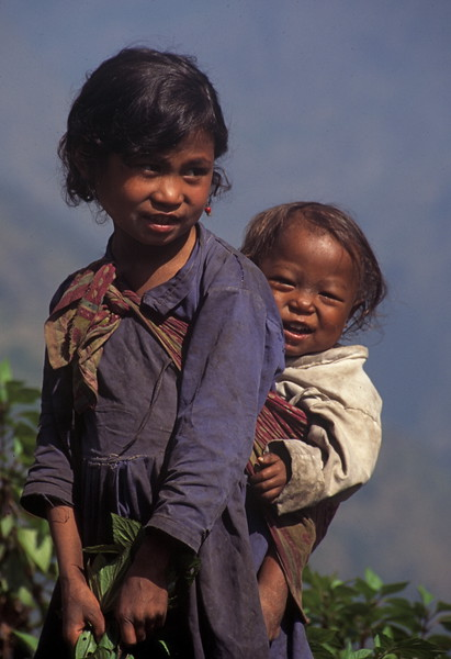 """Nepal - Rolwaling 1994 """"Baby on Back"""""""