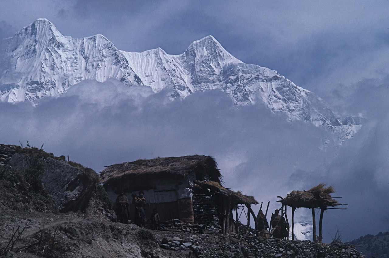 "Nepal -Dhaulagiri Circuit Attempt 1987<br /> ""Mountain Village"""