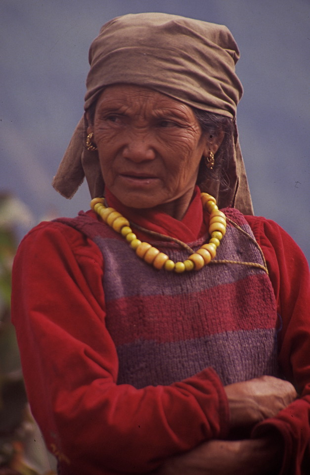 "Nepal - Makalu 1991<br /> ""Woman in Red"""