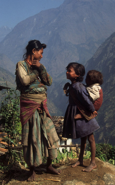 "Nepal - Rolwaling 1994 <br /> ""Mother and Daughter"""