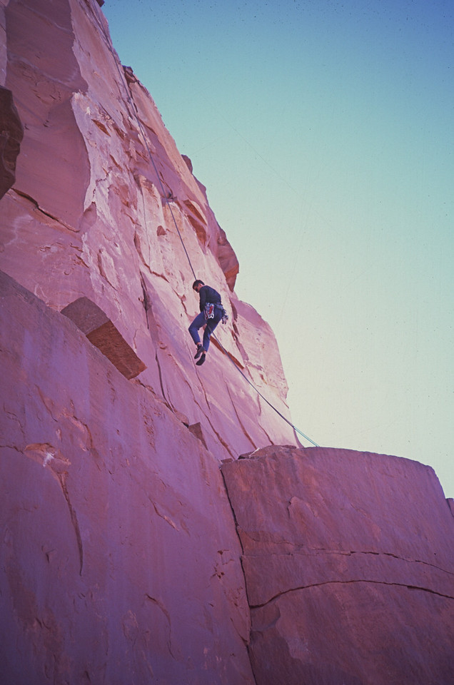 """Castleton Rappel"" - Descending Castleton Tower in Utah"