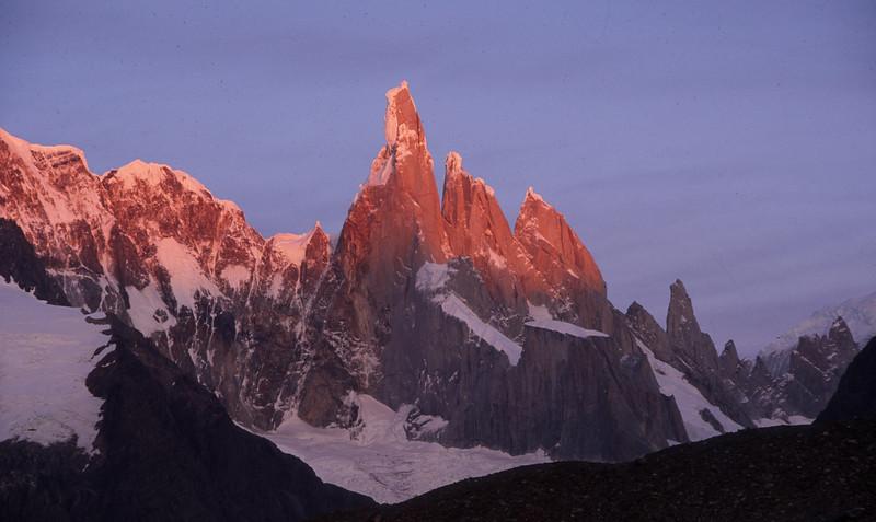 First Light - Cerro Torre in Los Glaciers NP