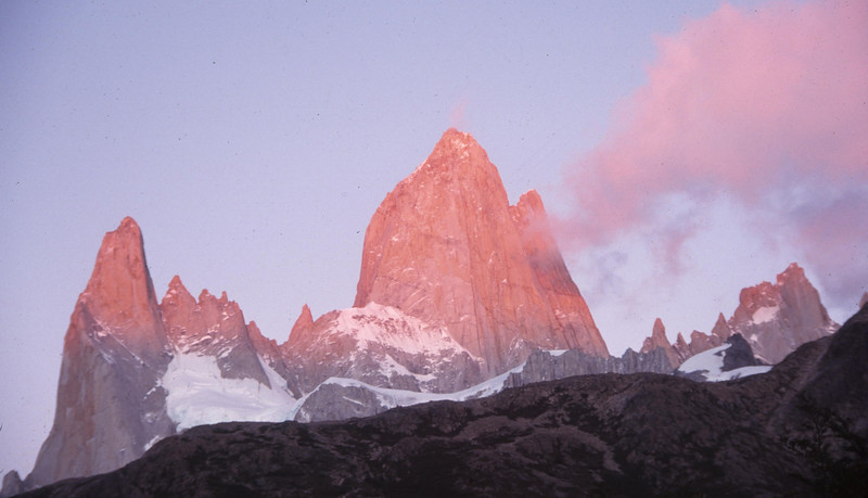 Early Sun on Fitzroy - Los Glaciers NP