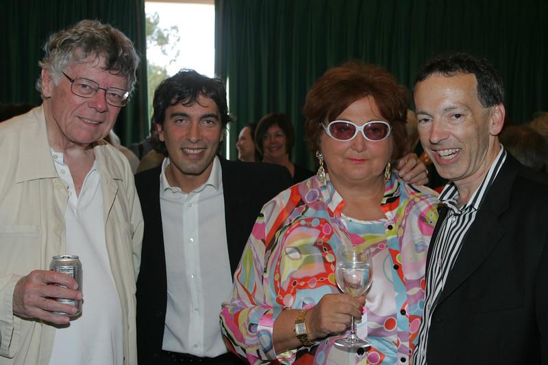 L-R: Gordon Getty, Carlo Ponti, Jr, Tatiana Copeland, and Rick Walker