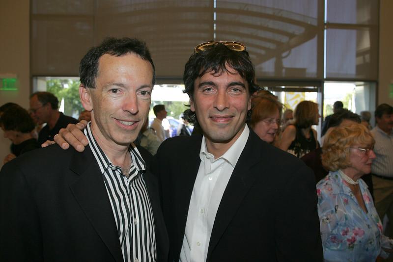 L-R: Rick Walker and Carlo Ponti, Jr.