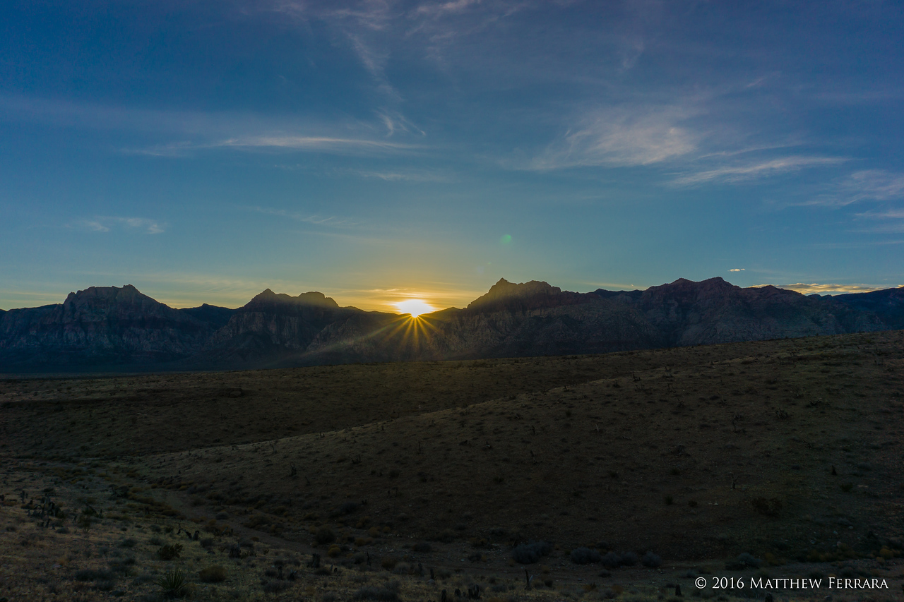 Sunset, Red Rock Canyon, Nevada