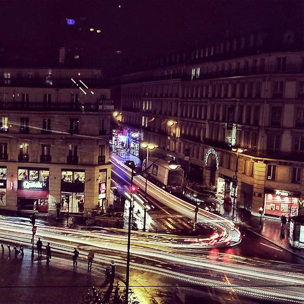 Night Traffic from Hilton, Paris