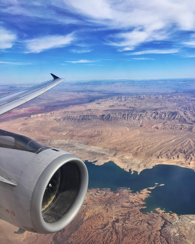 Flying Over Lake Mead, Nevada