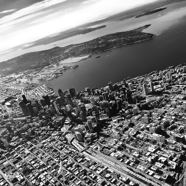 Sailing over Seattle
