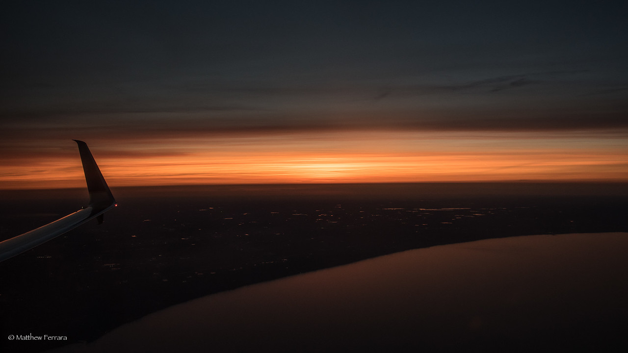 Sunset over Chicago