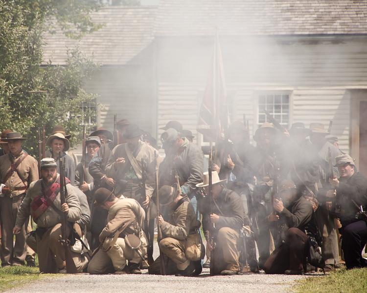GCV&M Civil War Rrenactment Town Battle - 2015