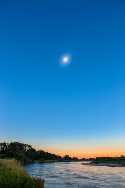 Eclipse over Snake River