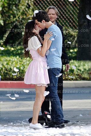 Set of PARENTAL GUIDANCE SUGGESTED  with Selena Gomez and BJ Novak in Los Angeles,California