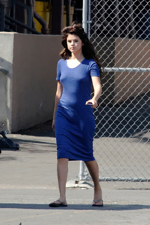 Exclusive__ Selena Gomez during the set of Parental Guidance Suggested in Los Angeles