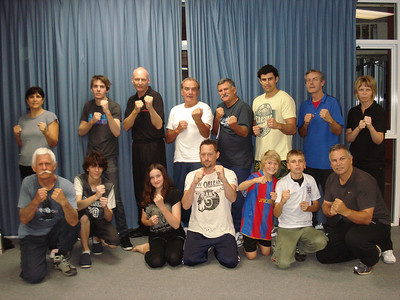 Martin Day & Patricia Fast with some of the students including family of 3 Andrew, Karen and Jordan who completed the 6 week Martin Day Self Defense Program in Noosa, Queensland, Australia.