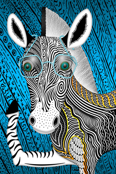 Portrait Of The Artist As A Young Zebra