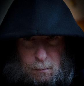 Self portrait with hood
