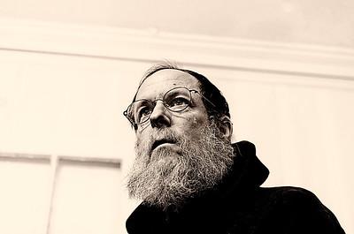 Self-portrait with hood using Dragan processing, mono