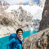 smaragd green glacier lakes in Patagonia