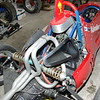 Air intake under nose, air goes down frame tub over the heads and out the vents shown here.