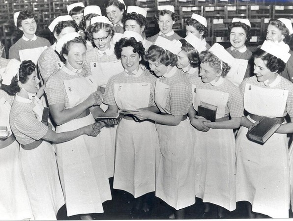 Nurses prize giving 1950s.