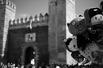 Outside the Real Alcazar - Semana Santa - Seville 2014