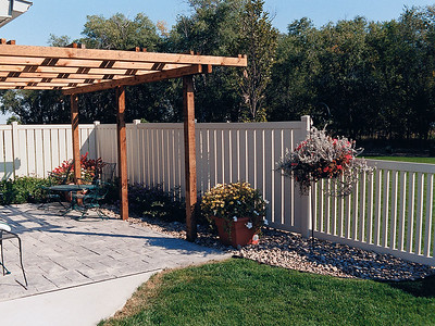 Almond Caribbean and Malibu Fence