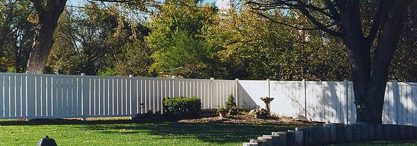 White Caribbean Fence